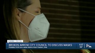 Broken Arrow City Council Set to Discuss Masks