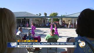 Chula Vista elementary school honors teacher