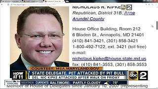 State Delegate attacked by pit bull - Video