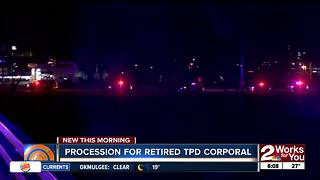 Procession held for retired TPD Corporal - Video