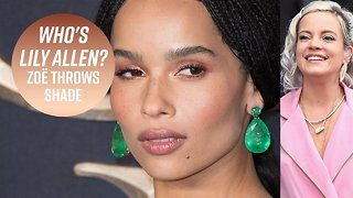 Zoë Kravitz says Lily Allen attacked her with a kiss