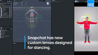 Snapchat has new custom lenses designed for dancing.