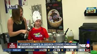 Students compete in Gridiron Cooking Challenge - Video