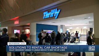 Solutions to rental car shortage in the Valley