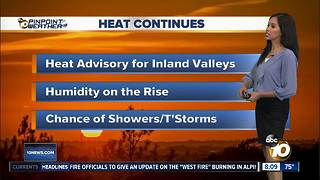 10News Pinpoint Weather for Sun. July 8, 2018