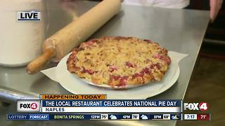 Naples restaurant serves free pie for National Pie Day - 7am live report - Video