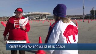 Chiefs super fan looks just like head coach