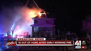 Four families escape fire at three-story Kansas City home - Video