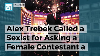 Alex Trebek Called A Sexist For Asking A Female Contestant A Question About Her Job - Video
