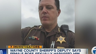 Male deputy files lawsuit claiming Wayne County Sheriff's Office ignored sexual harassment by a female supervisor. - Video