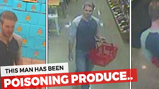 Man Poisons Produce At Michigan Grocery Stores - Video