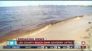 Beach swimming advisory lifted in Lee County - Video
