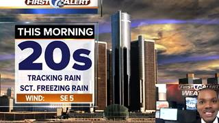 Patchy freezing rain - Video