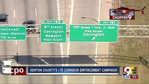 1 day, 281 tickets: NKY's I-75 campaign puts traffic offenders on alert