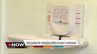 Florida dad petitioning lawmakers to mandate changing tables in men's bathrooms - Video