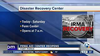 Disaster recovery center opens Wednesday in Fort Pierce - Video