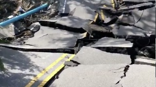 Wilmington Street Collapsed in Hurricane Florence