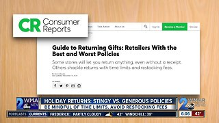 Holiday Returns: Stingy V.S. Generous Policies
