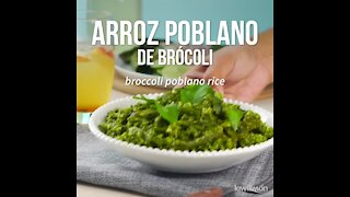 Broccoli Poblano Rice