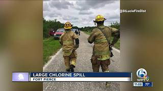 Large chlorine spill in St. Lucie County