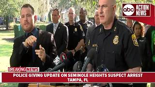 Tampa police give update on arrest of suspected Seminole Heights killer - Video