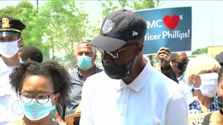 Officer who spent more than 100 days in hospital goes home