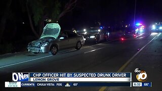 CHP officer struck by suspected DUI driver