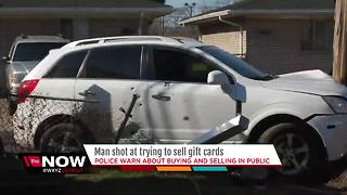 Man shot at while trying to buy gift cards - Video