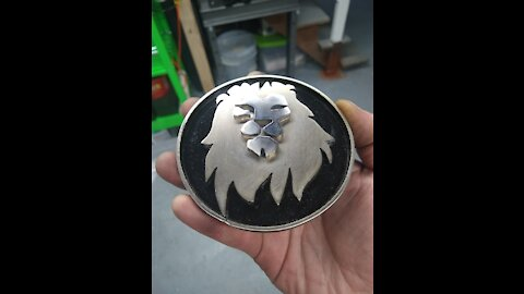 Handmade LION FACE belt buckle - RT ARTISAN WORKS -
