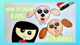 How to Draw a Dog with Shapes