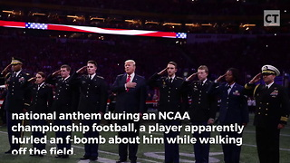 Athlete Disrespects Trump As The President Stands For Anthem - Video