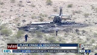 Plane crashes near Henderson airport - Video