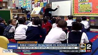 Baltimore Co. schools to vote on class during Jewish holidays