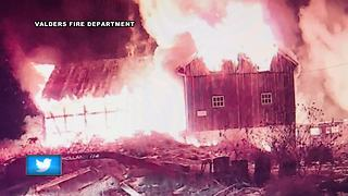 Several animals die in barn fire - Video