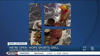 Hops Sports Grill selling takeout food
