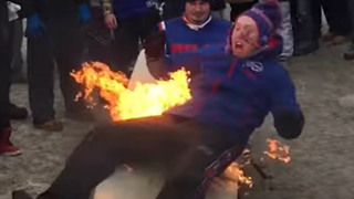 Top 5 Times Sports Fans Set Themselves on FIRE - Video