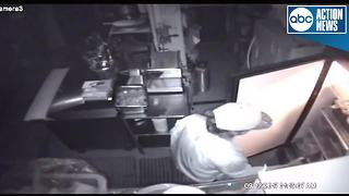 Deputies search for suspect seen on video surveillance looting restaurant after curfew in Polk Co. - Video