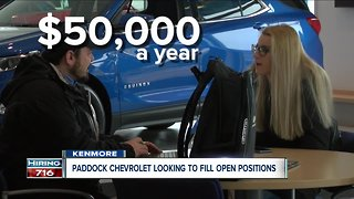 Hiring 716: Paddock Chevrolet looking to fill open positions