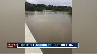 Historic flooding in Houston, Texas - Video
