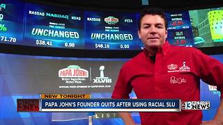 Papa John's founder quits after using racial slur - Video