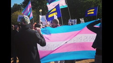 In Front of White House, Trans Protesters, Allies Chant, 'We Will Not Be Erased'