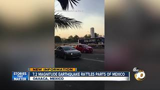 7.2 Magnitude earthquake rattles parts of Mexico - Video