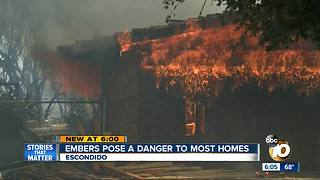 Embers pose danger to most homes - Video
