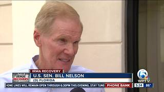 Sen. Bill Nelson visits Red Cross shelter - Video