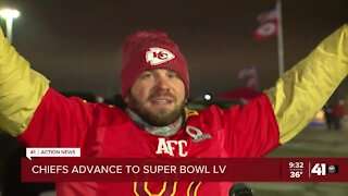 Chiefs fan reacts to AFC win, 2nd Super Bowl in a row