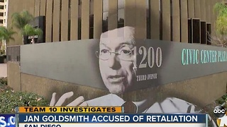 Former City Attorney Jan Goldsmith  accused of retaliation - Video