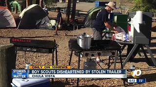 Chula Vista Boy Scouts disheartened by stolen trailer - Video