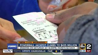 Powerball climbs to $435 million - Video