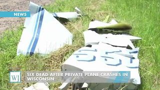 Six Dead After Private Plane Crashes In Wisconsin - Video