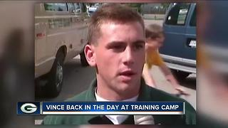 Throwback: College Student Vince Vitrano Works Packers Training Camp - Video